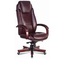 Кресло руководителя Бюрократ T-9923WALNUT коричневый кожа