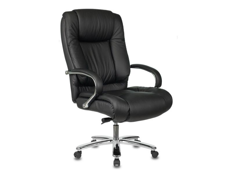 Кресло руководителя Бюрократ T-9925SL черный кожа