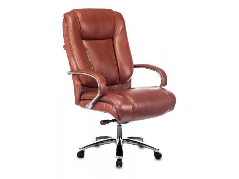 Кресло руководителя Бюрократ T-9925SL коричневый Leather Eichel кожа