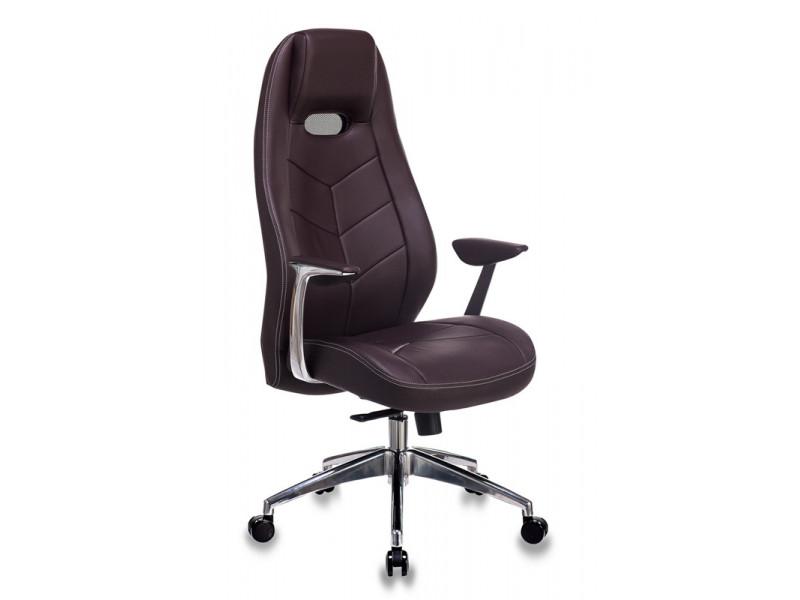Кресло руководителя Бюрократ Zen коричневый кожа