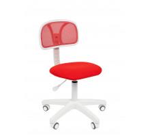 Офисное кресло Chairman 250 белый пластик TW-19/TW-69 красный