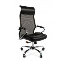 Офисное кресло Chairman 700 экопремиум черный/сетка