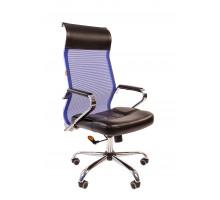 Офисное кресло Chairman 700 экопремиум черный/сетка синяя 5003
