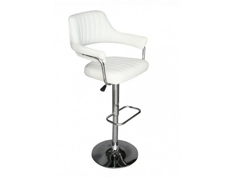 Барный стул из экокожи белый CH-5019