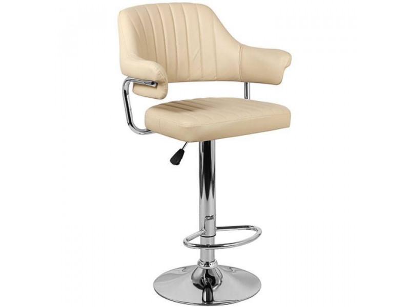Барный стул из экокожи бежевый CH-5019