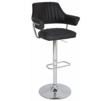 Барный стул из экокожи черный CH-5019